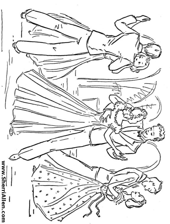 ballroom dancer coloring pages - photo#5